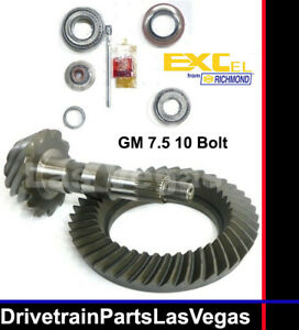 Gm 7 5 Richmond Excel 3 08 Ratio Ring And Pinion Gear Set Install Kit 1999 on