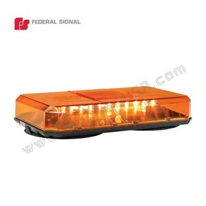 Federal Signal Highlighter Led Mini Lightbar Permanent Mount All Amber