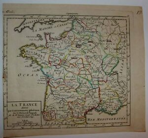 1748 1749 Vaugondy 2 Small Format Maps Of France By Archdioceses G N Ralit S