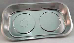Magnetic Parts Tray Stainless Steel Rubber Magnet Base 3 Sizes
