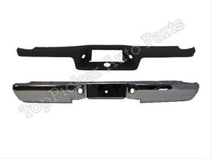 For 1993 2011 Ford Ranger Styleside Rear Step Bumper Face Bar Chrome Top Pad 2pc