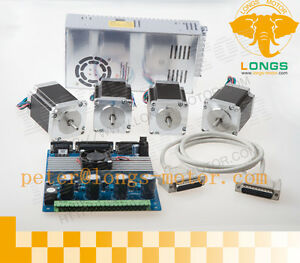 High Quality Nema 23 Stepper Motor 290oz in driver Board 4 Axis Kit Us Free Ship