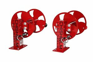 12 Red Set Of Two Single Welding Cable Lead Reels