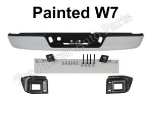 Painted Bright White W7 Rear Bumper Assy For 02 08 Ram 1500 03 09 Ram 2500 3500
