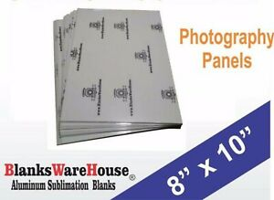 8 X 10 Photo Sheet aluminum Sublimation Blanks White Square Corners 20 Pcs