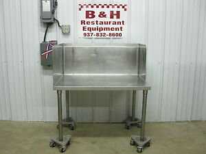 38 Stainless Steel Equipment Griddle Fryer Mixer Stand Table W Side Splash 3