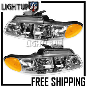 2000 Dodge Caravan Chrysler Town Country Voyager Left Right Pair Headlights