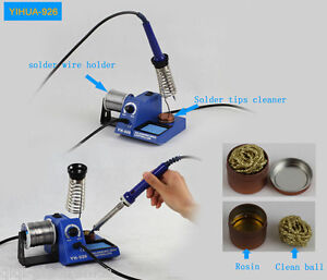 220v 60w Adjust Temp Soldering Welding Iron Station Tip Cleaner Wire Holder Base