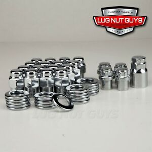 Lug Nuts Locks 12x1 5 Chrome Mag Wheel Nut 75 Shank Cragar S S Chevrolet Gm