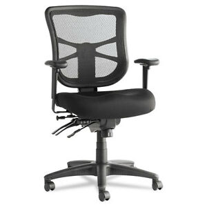 Alera Elusion Series Mesh Mid back Ergonomic Multifunction Office Chair Black