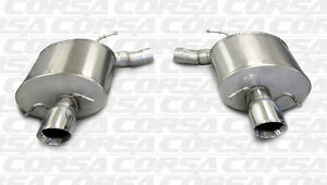 Corsa 2009 2014 Cadillac Cts v Sedan Axleback Exhaust System With Polished Tips
