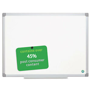 Mastervision Earth Gold Magnetic Dry Erase Marker Board 36x48 White Alum Frame
