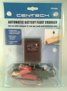 12v Volt Automatic Battery Float Charger Trickle Motorcycle Car Boat Mower New