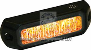 Buyers Amber Led Mini Strobe Light Surface Mount Low Profile Truck Grill