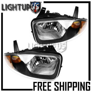 Left Right Sides Pair Headlights For 2003 2005 Chevy Chevrolet Cavalier