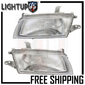 Headlight Headlamp Pair Left Right Set For 97 98 Mazda Protege