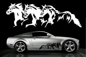 Running Horses Decal Sticker Dodge Chevy Ford Horse Trailer Tailgate Windshield
