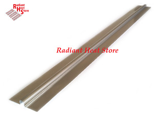 100 4ft Aluminum Omega Radiant Floor Heat Transfer Plates For 1 2 Barrier Pex