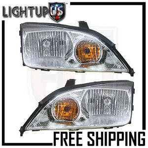 2005 2007 Ford Focus Left Right Sides Pair Halogen Headlights
