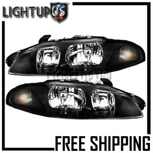 1997 1999 Mitsubishi Eclipse Left Right Sides Pair Headlights Headlamps