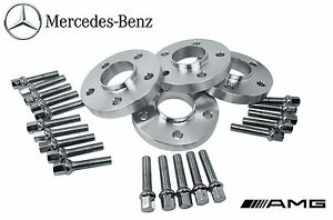 4 Mercedes Benz 5x112 Staggered 12 Mm 20 Mm Hub Centric Spacers W Lug Bolts