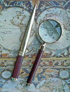 Desk Accessories hampton Court Letter Opener Magnifying Glass Desk Set