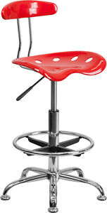 Vibrant Color Drafting Bar Stool With Tractor Seat Shop Stool Salon Stool