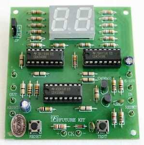 Digital 2 Digit Counter Up Electronic Kit For Student Assembled Kit