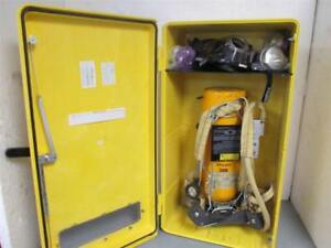 Scott 30 Minute Self Contained Breathing Apparatus Kit W encon Wall Cabinet