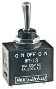 New Brand No 11x0254 Nkk Switches Wt13s Switch Toggle Spdt 10a 125vac