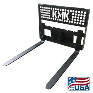 New Skid Steer Pallet Fork Assembly 48 bobcat case etc Kmk Welding Llc