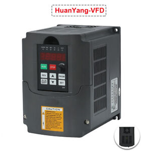 New Variable Frequency Drive Inverter Vfd 5 5kw 220v 7 6hp 25a Huan Yang Brand