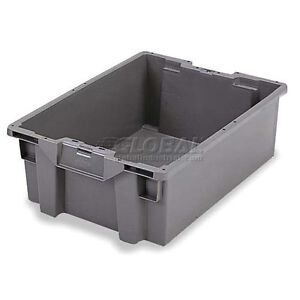 Orbis Stack n nest Pallet Container Gs6040 13 23 5 8 X 15 3 4 X 5 1 4 Gray