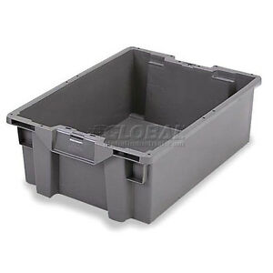 Orbis Stack n nest Pallet Container Gs6040 27 23 5 8 X 15 3 4 X 10 3 4 Gray