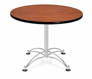36 Round Cafe Table With Cherry Laminated Top Table Height Restaurant Table
