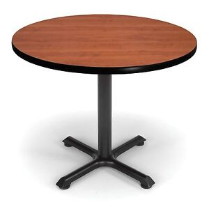 36 Round Cafe Table With Cherry Laminated Top Restaurant Table Height