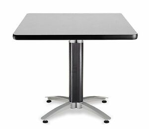 36 Square Cafe Table With Gray Laminated Top Table Height Restaurant Table