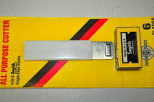 Ardell Box Cutter 4 X 1 8 Pocket size Utility Knife With 6 Blade Made In Usa
