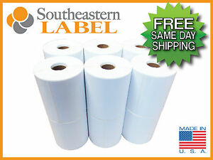 4x6 Direct Thermal Zebra Eltron Labels 12 Rolls 3 000 Labels Free Shipping