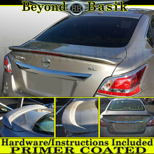 For 2013 2014 2015 Nissan Altima 4dr Factory Style Spoiler Wing W Led Primer