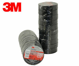 3m Black Electrical Tape Temflex 1700 3 4 X 60 Ft 20 Rolls Fast Free Shipping
