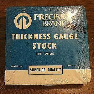 Precision Brand 0 024 Steel Feeler Gage 1 2 X 25 Coil 19680