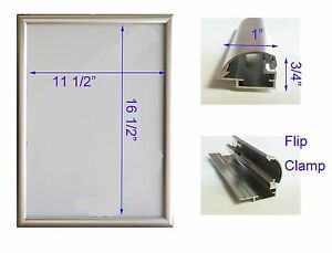 Led Backlit Box Signage Display Board 13 x 19 With Silver Aluminum Frame