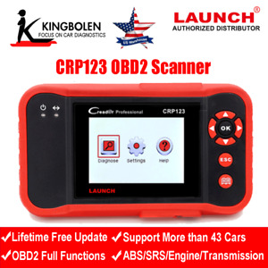 Crp123 Creader Vii Code Reader Obd2 Scanner Eobd Can Abs Srs Diagnostic Tool