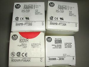 Lot Of 4 Allen Bradley Switches 800mr pt16g pt16a fx6ak jx9u New In Box W7