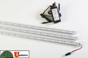 3x 20 Inch Linked U5630 Led White Lights For 5ft 6ft Showcase With Ul Power U s