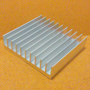 4 Inch Heat Sink Aluminum 4 0 X 4 23 X 1 05 Inches Low Thermal Resistance