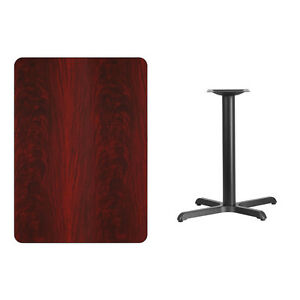 30 X 42 Mahogany Laminate Table Top With Base Table Height Restaurant Table