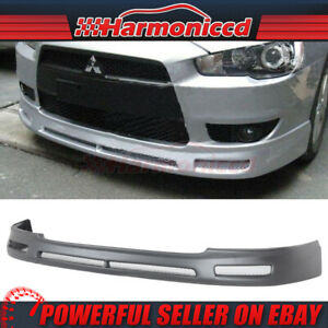 Fits 2008 2015 Mitsubishi Lancer B Style Pp Front Bumper Lip