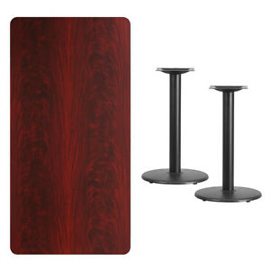 30 X 60 Mahogany Laminate Table Top With Base Table Height Restaurant Table